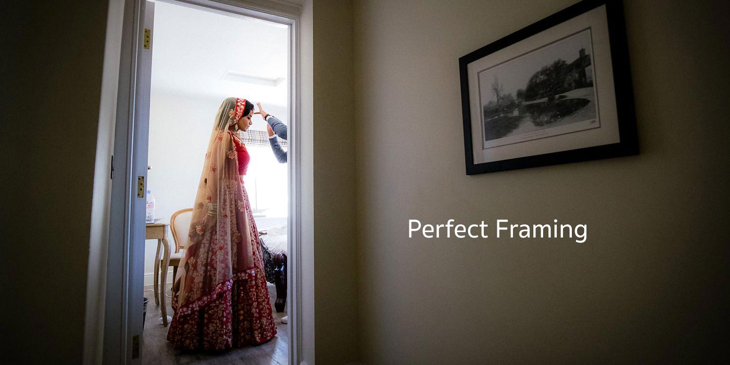 Documentary picture of an Indian bride getting ready for her wedding