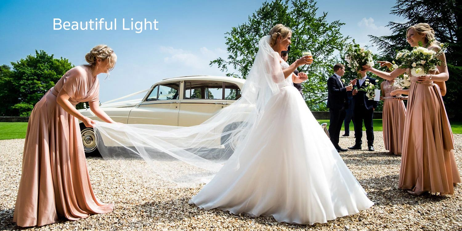 Beautiful light with a bride at Farnham Castle