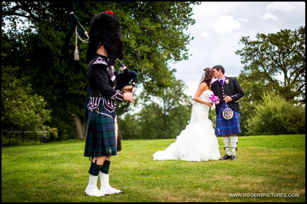 Bagpiper at Botleys Mansion