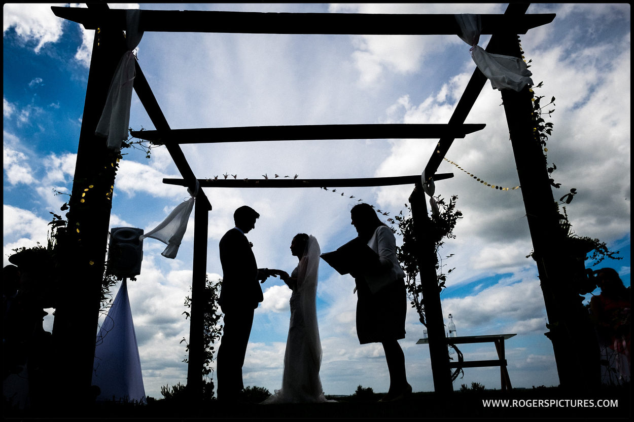 Documentary wedding photograph of a Humanist ceremony in Surrey