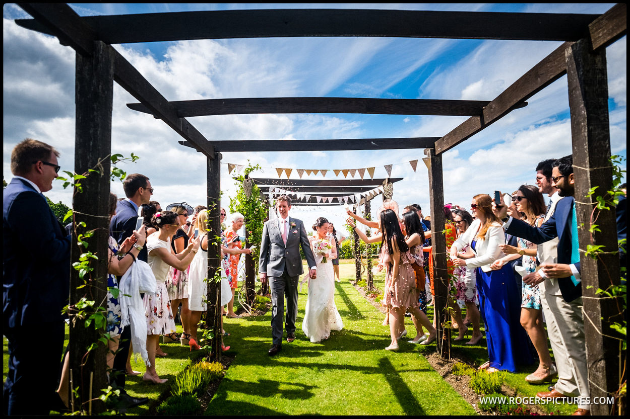 Outdoor wedding ceremony in Surrey