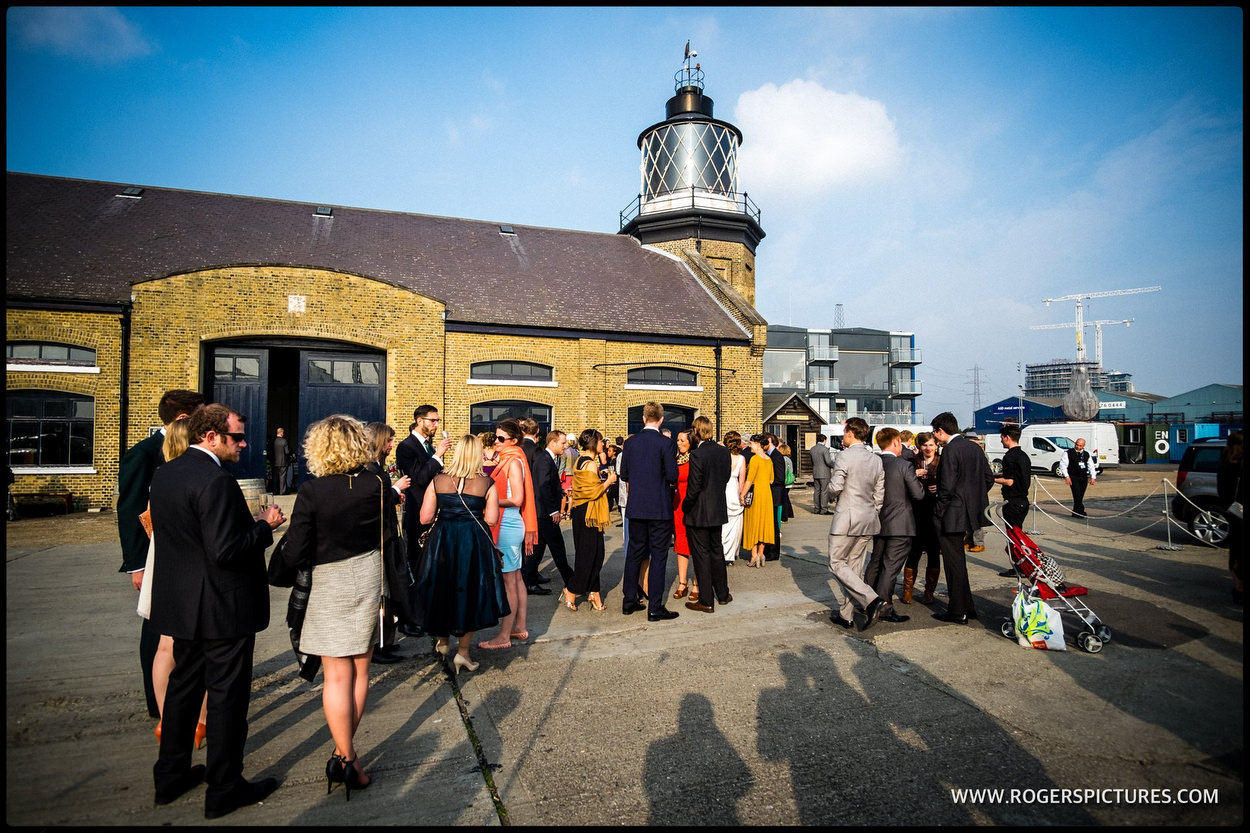Trinity Buoy Wharf wedding in London's East End
