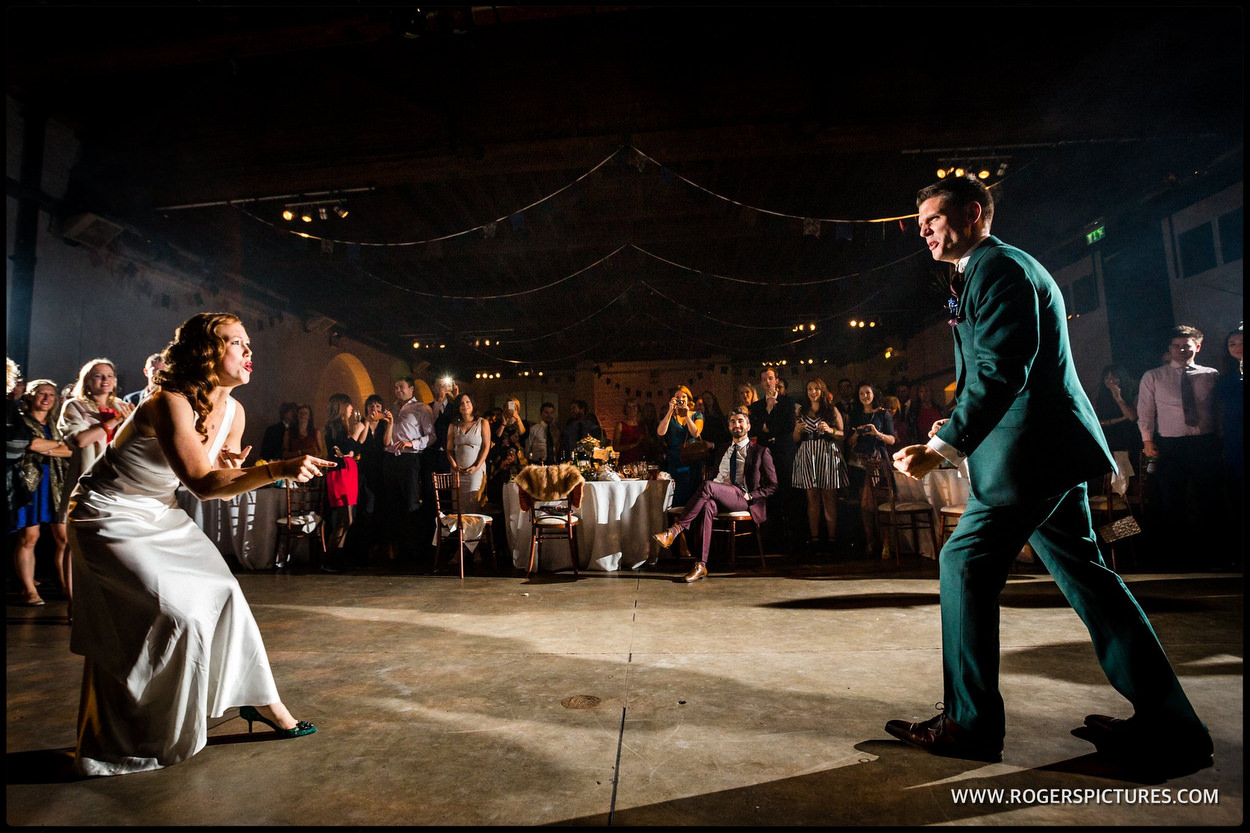 Dancing at a Trinity Bouy Wharf Wedding