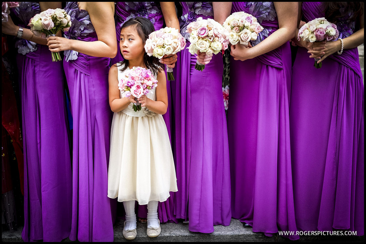 Purple Bridesmaid Dresses at Corinthia Hotel Wedding | Unposed ...