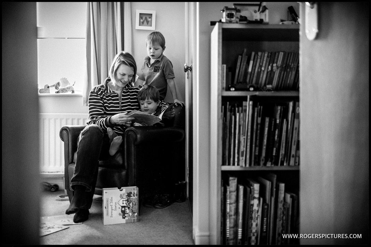 Mum reading a story