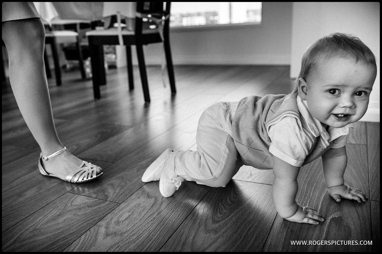 baby crawling on the floor