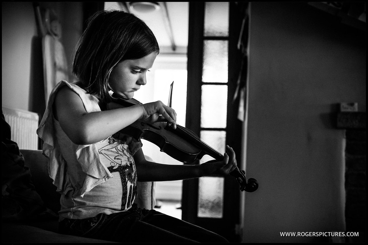 violin practice at home