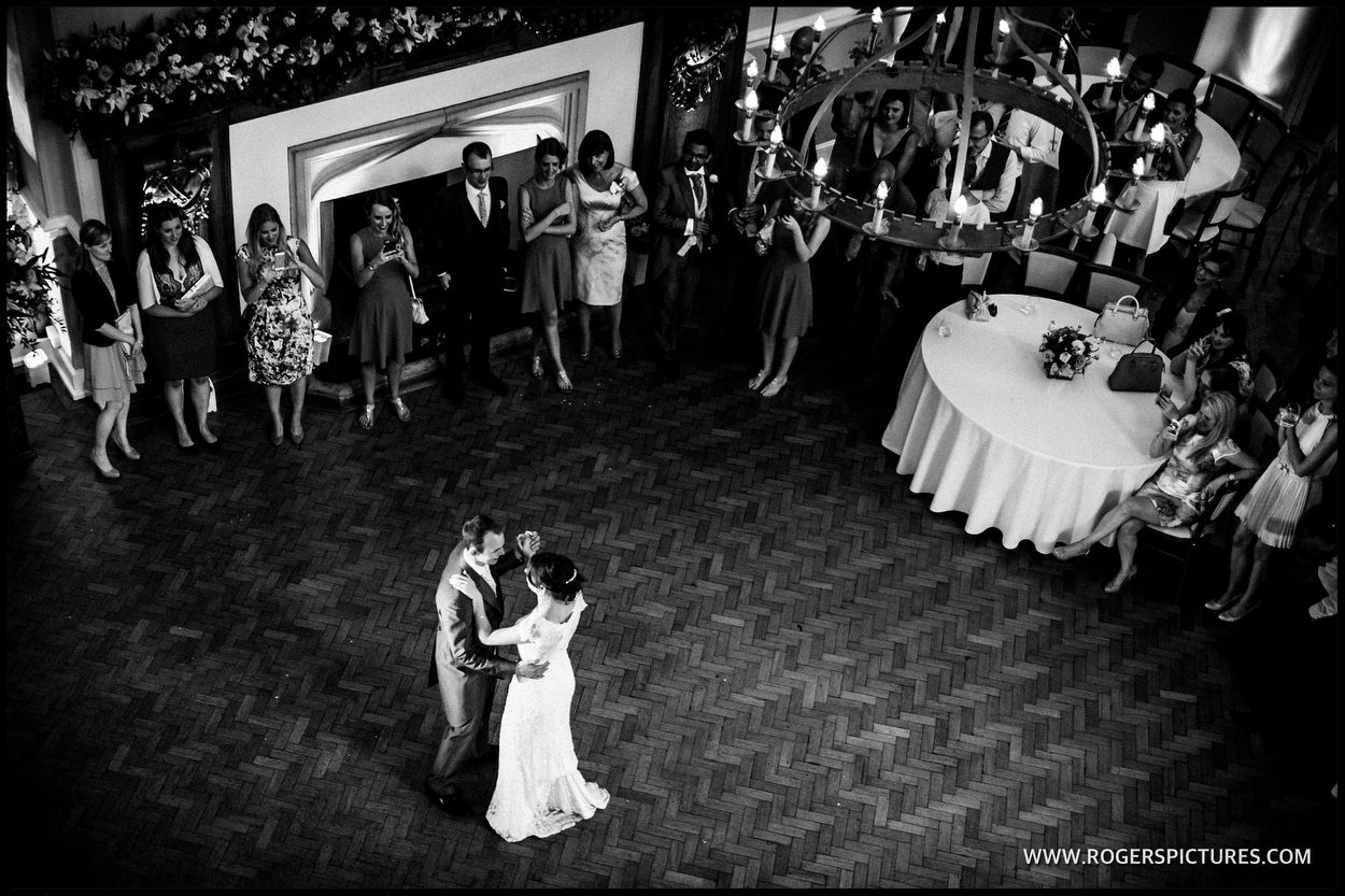 First Dance at a Farnham Castle wedding