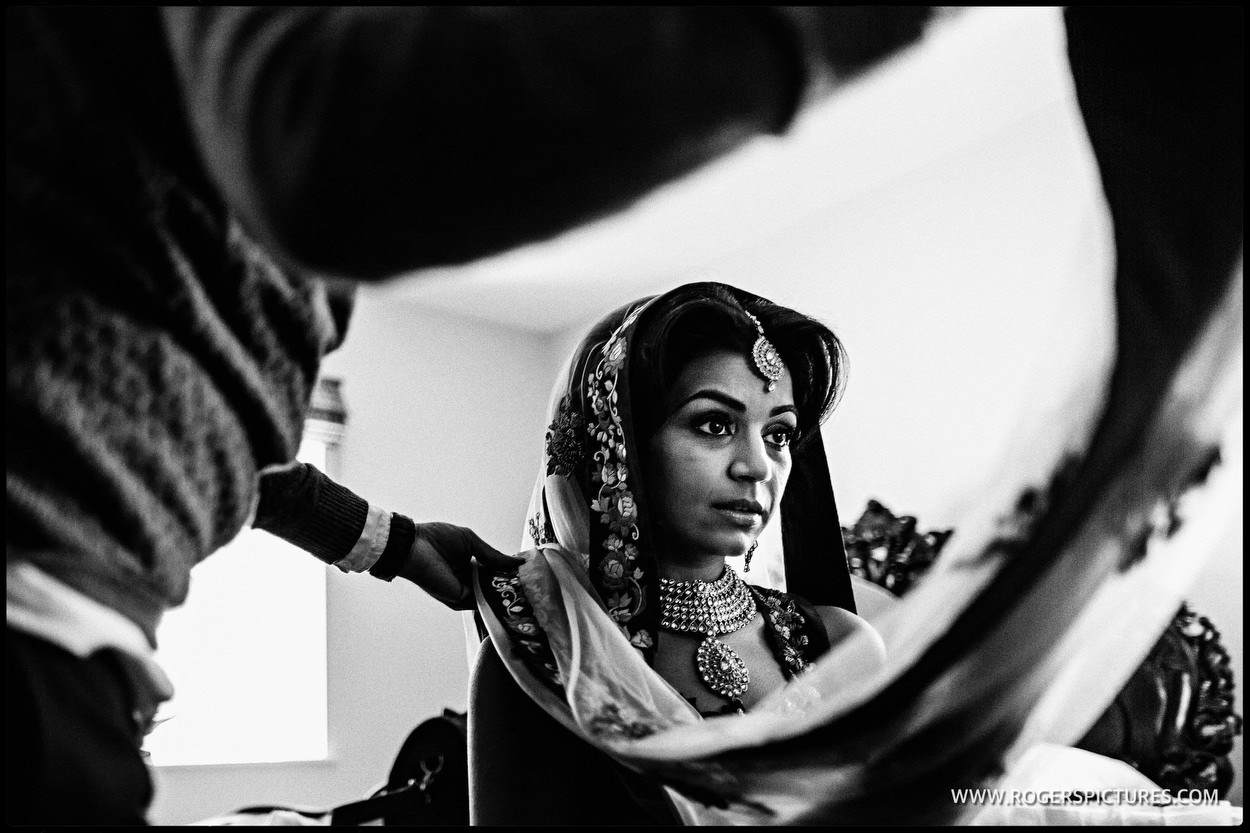 Indian bridal preparations at Froyle Park