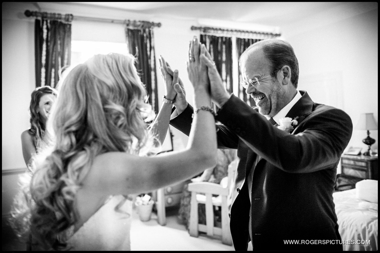 Harpenden wedding photographer bride and father