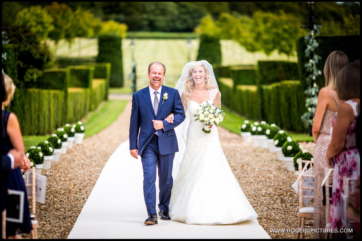 Harpenden wedding photographer father of the bride