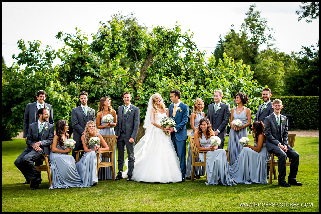 Harpenden wedding photographer outdoor group photo