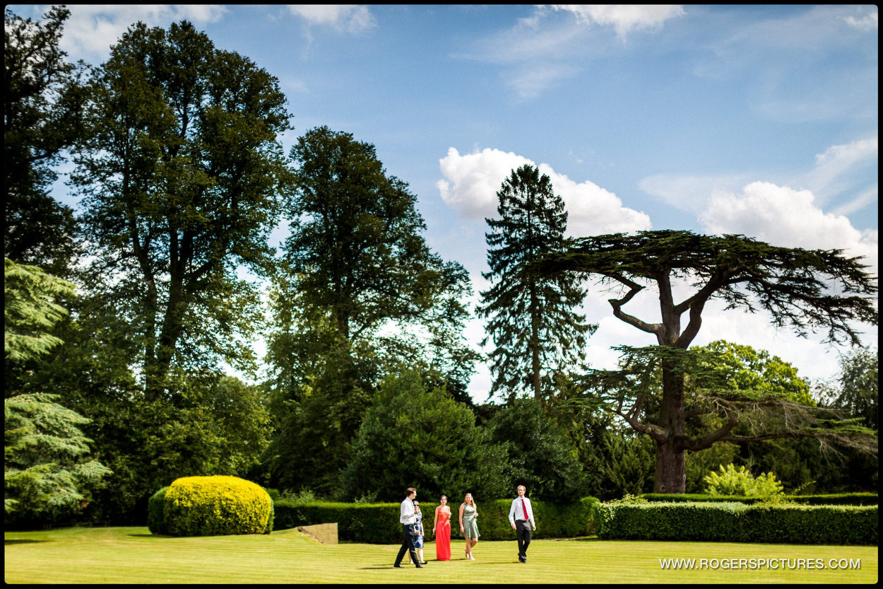 Kirtlington Park Wedding outdoor guests