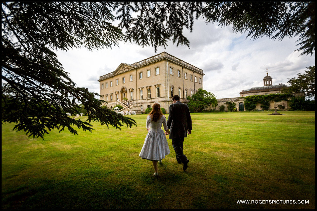 Kirtlington Park Wedding bride and groom