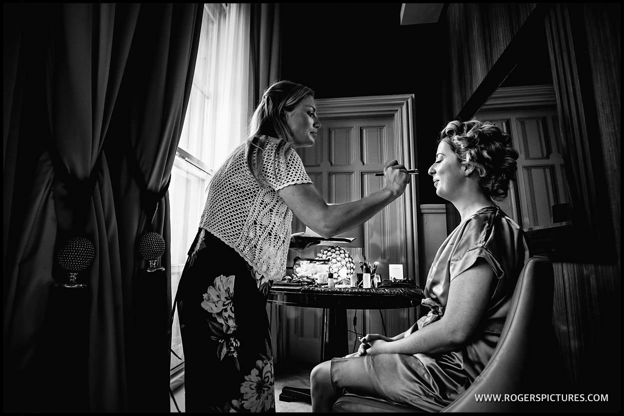 Brides preparation at St Pancras Hotel London