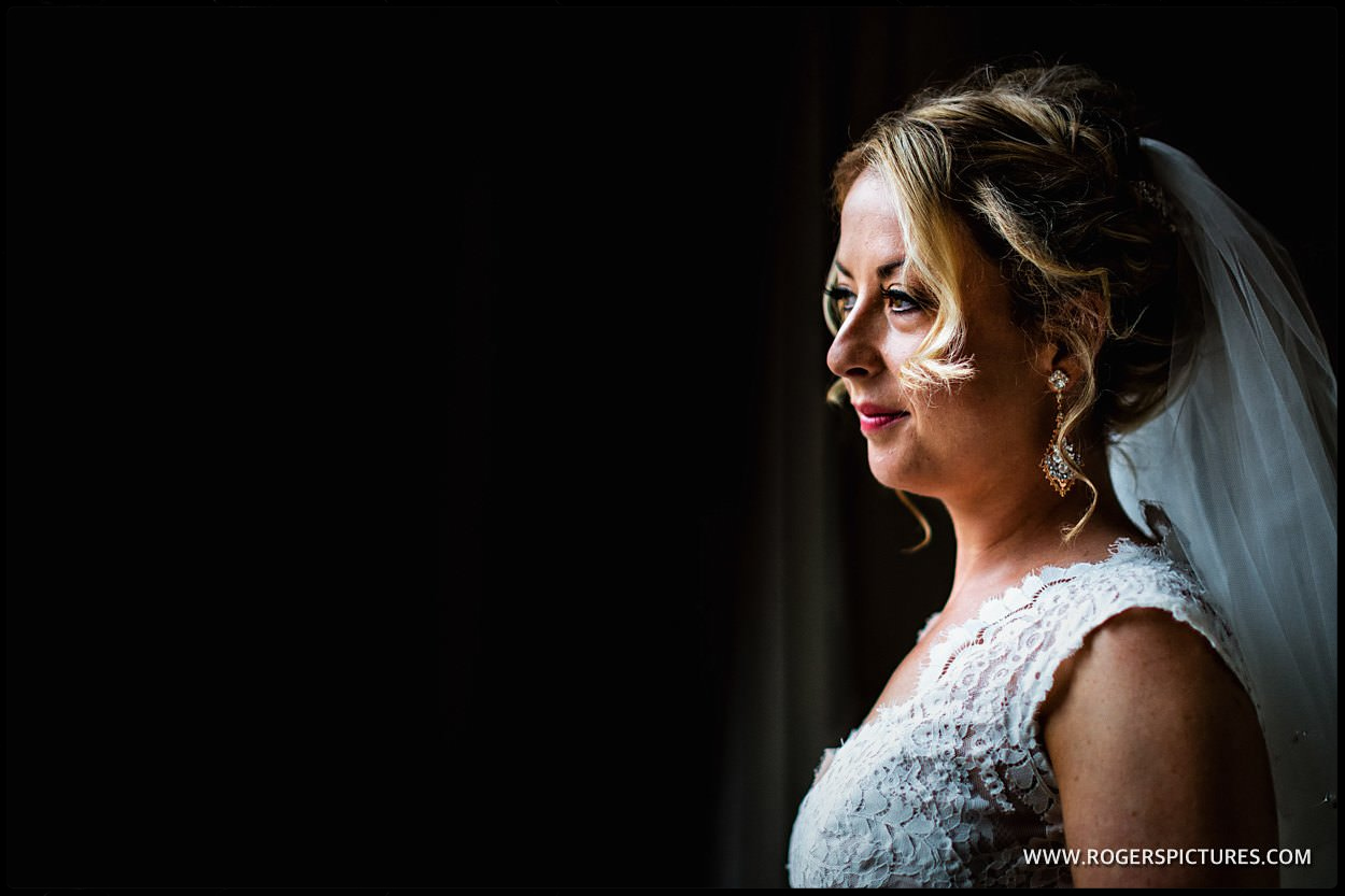 Bridal portrait at St Pancras Hotel