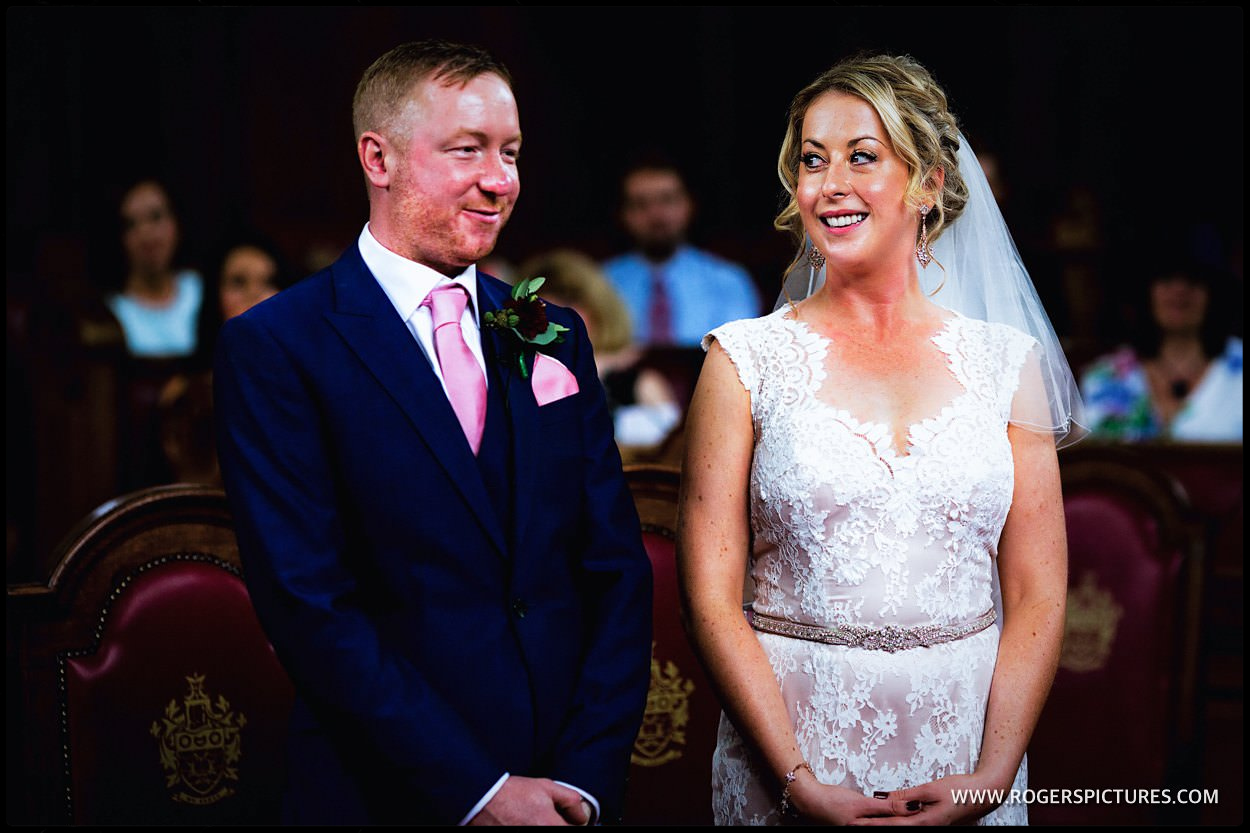 London town Hall wedding ceremony