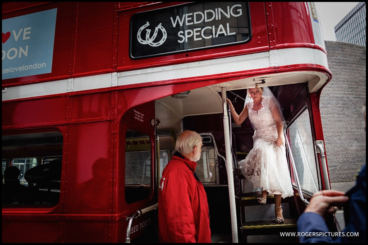 Wedding special double-decker red bus