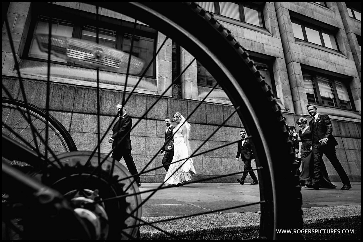 Ride London bride and groom portrait