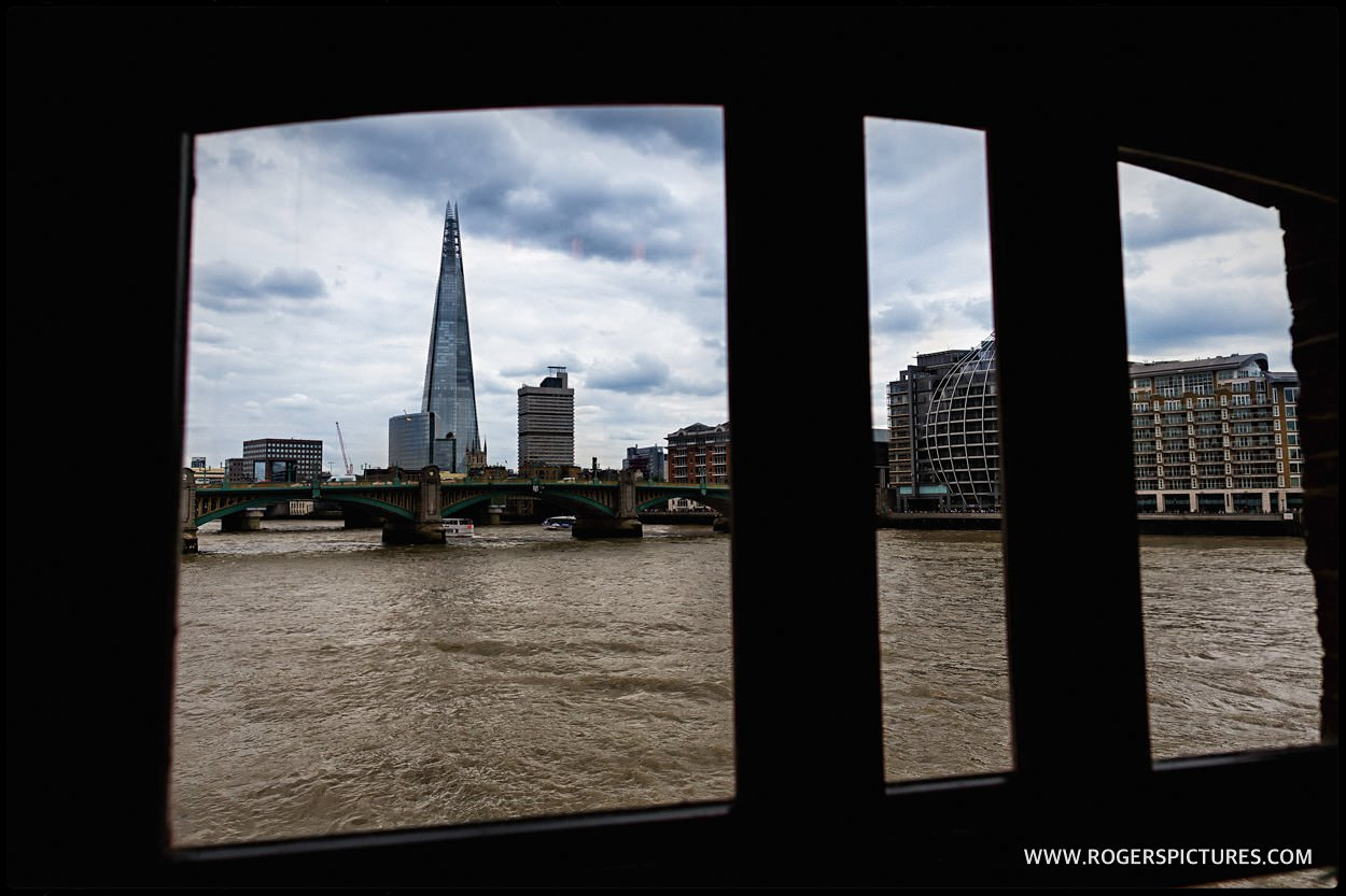 London shard Cinco window at the Pepys restaurant