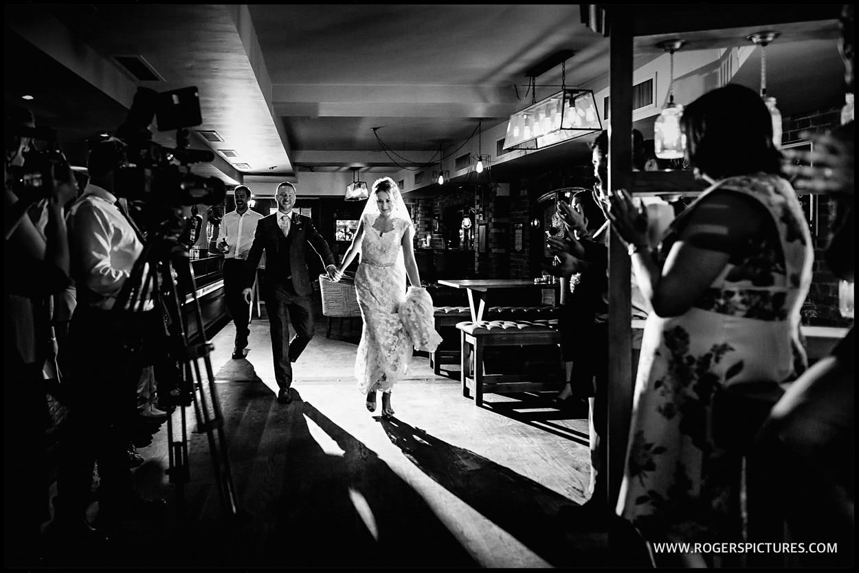 Bride and groom first dance at the Pepys restaurant