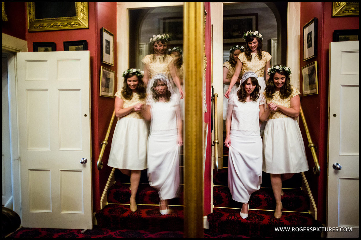 Brides preparation at Maunsel House in Somerset