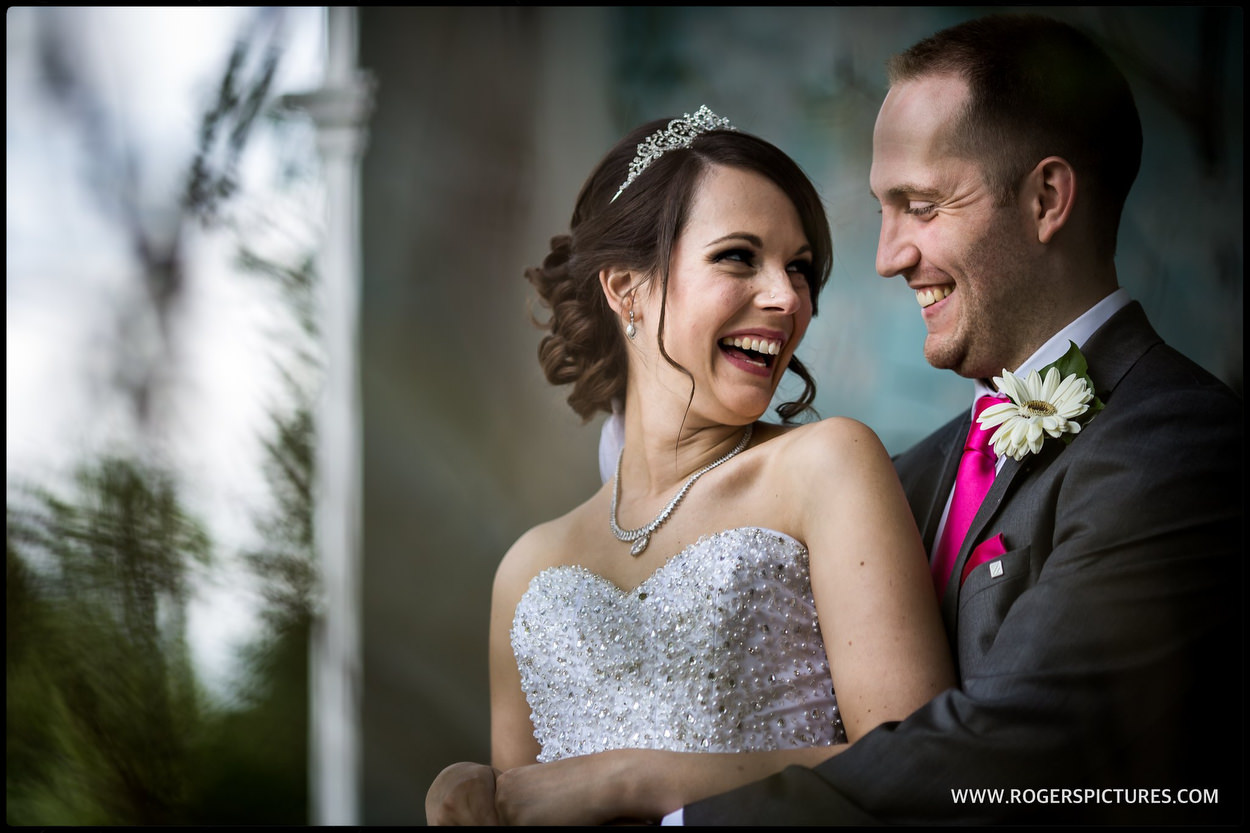 Couple portrait at Wasing Park Wedding in Berkshire
