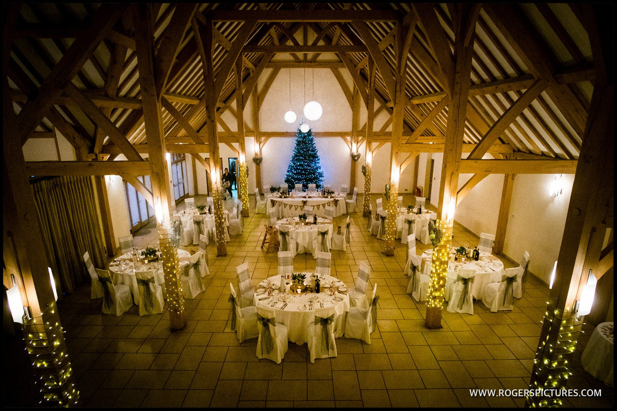 The wedding breakfast at Rivervale Barn