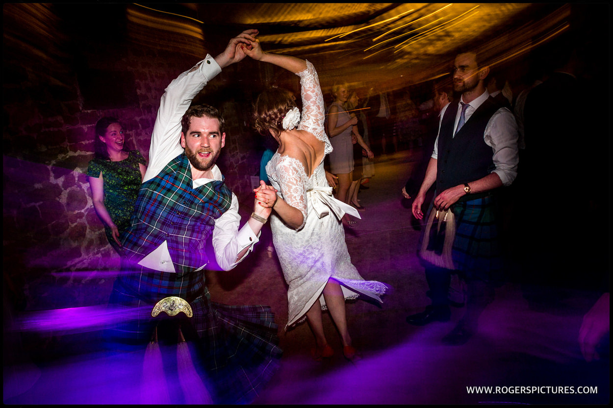 Ceilidh at a barn wedding in Dorset