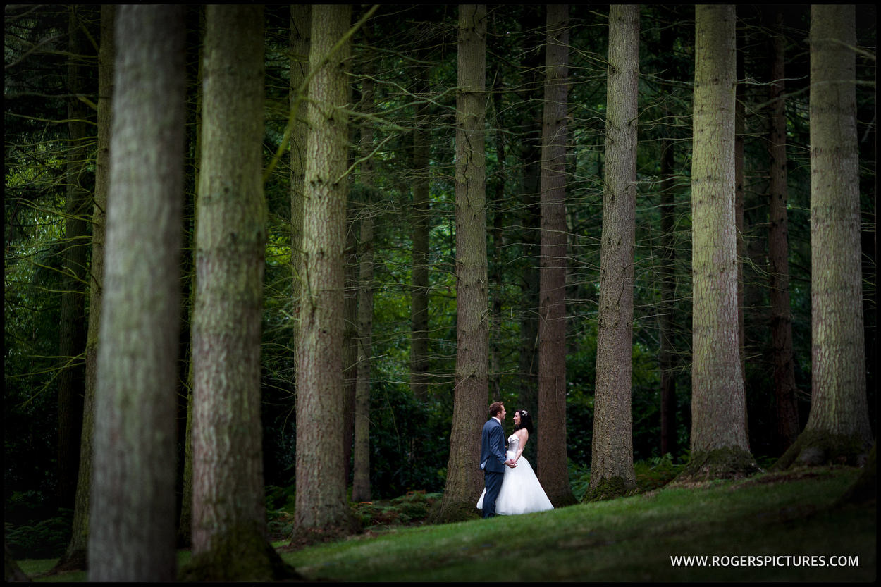 Woodland wedding at Wasing Park