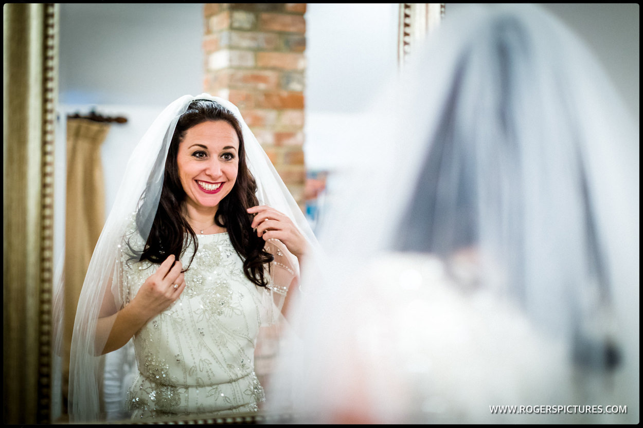 Bridal preparation at Wasing Park wedding