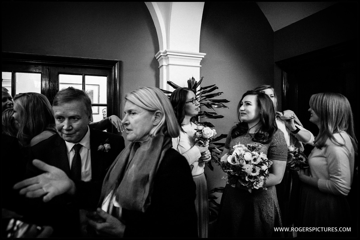 Guests at Chelsea Old Town Hall wedding