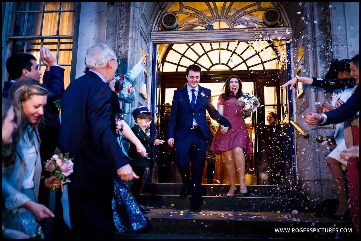 Chelsea old town Hall wedding ceremony