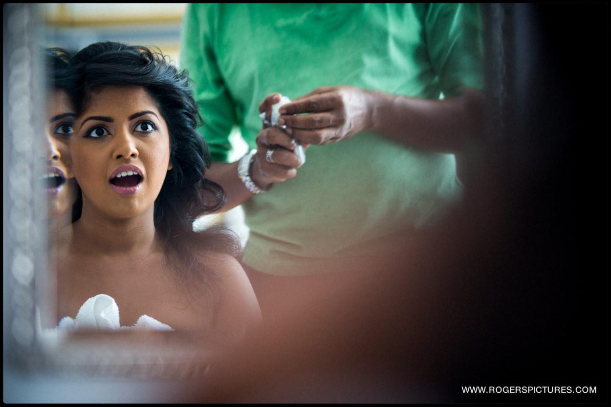 Brides preparations before her wedding in Sri Lanka