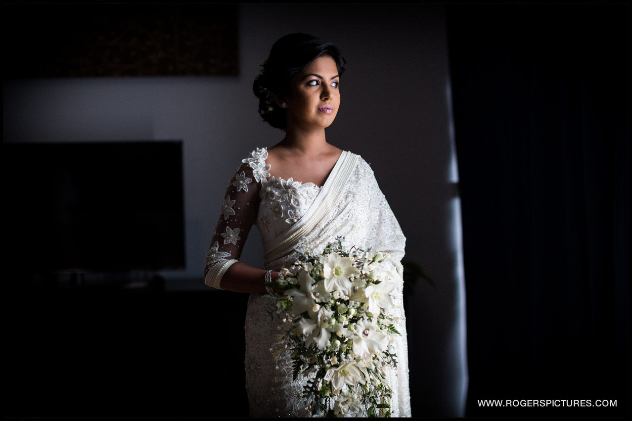 Portrait of a bride in Sri Lanka for her destination wedding