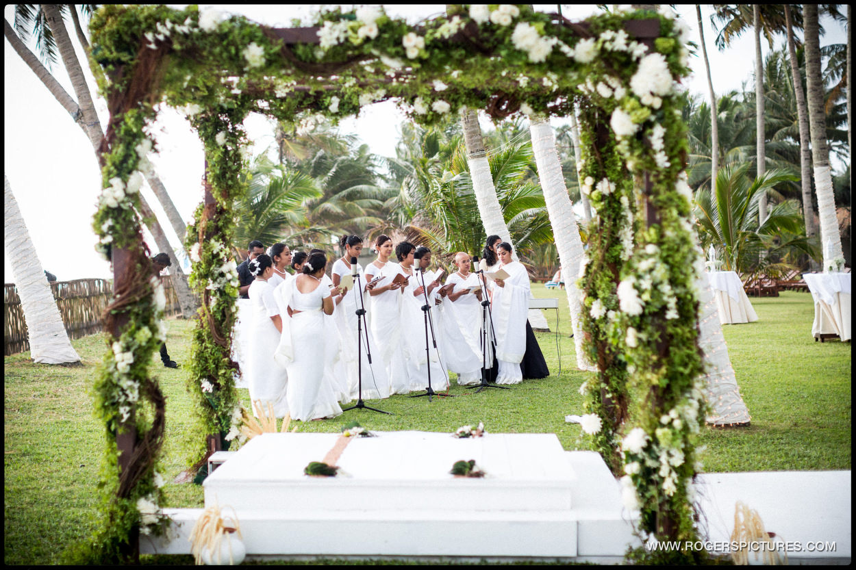 Outdoor ceremony at a destination wedding
