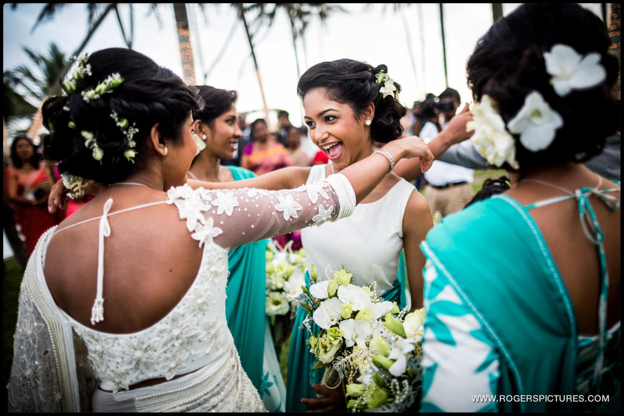 Destination Wedding Photographer Sri Lanka bridesmaids