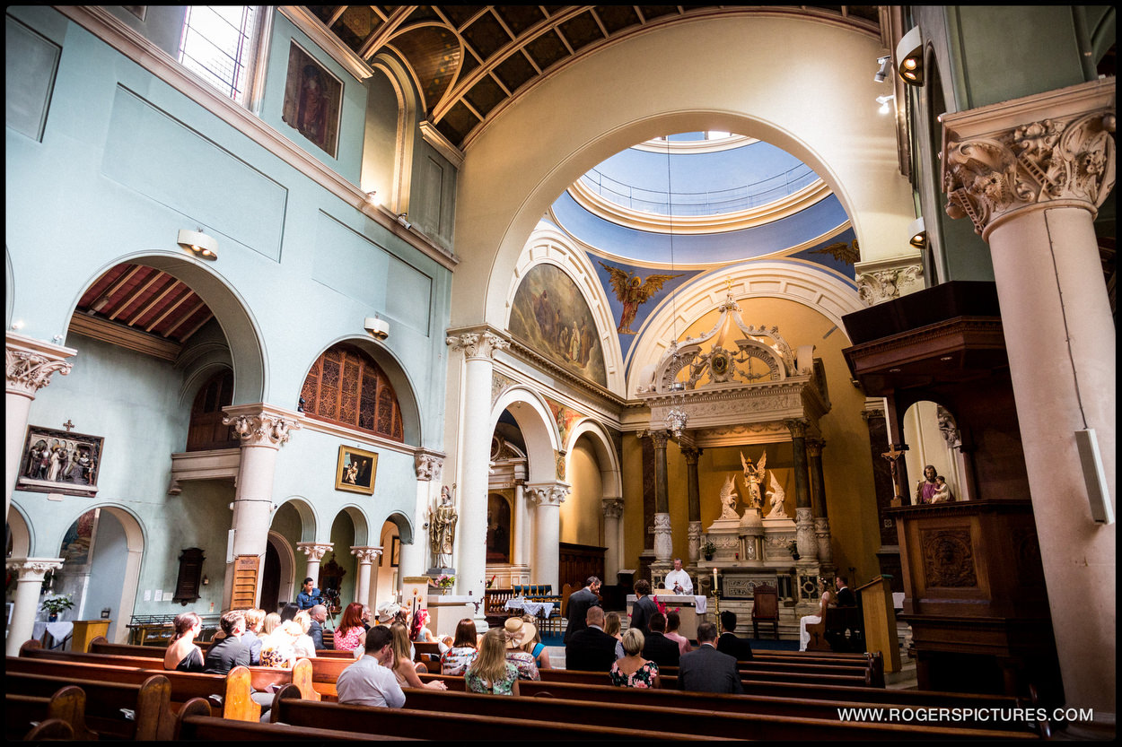 St Joseph's Church Highgate wedding ceremony