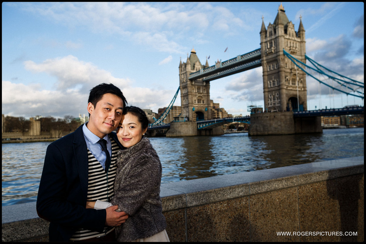 London Engagement Photography near Tower Bridge