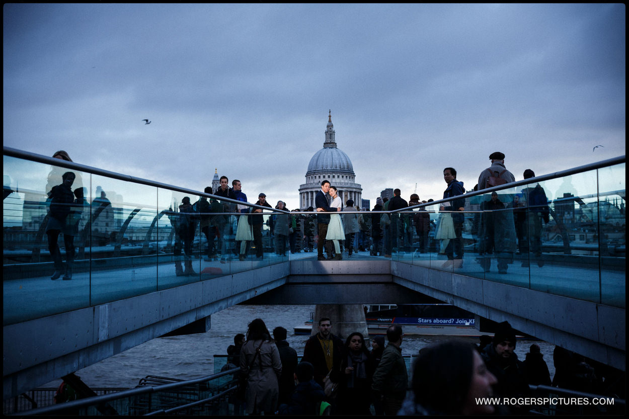 London Engagement Photography on Millennium Bridge