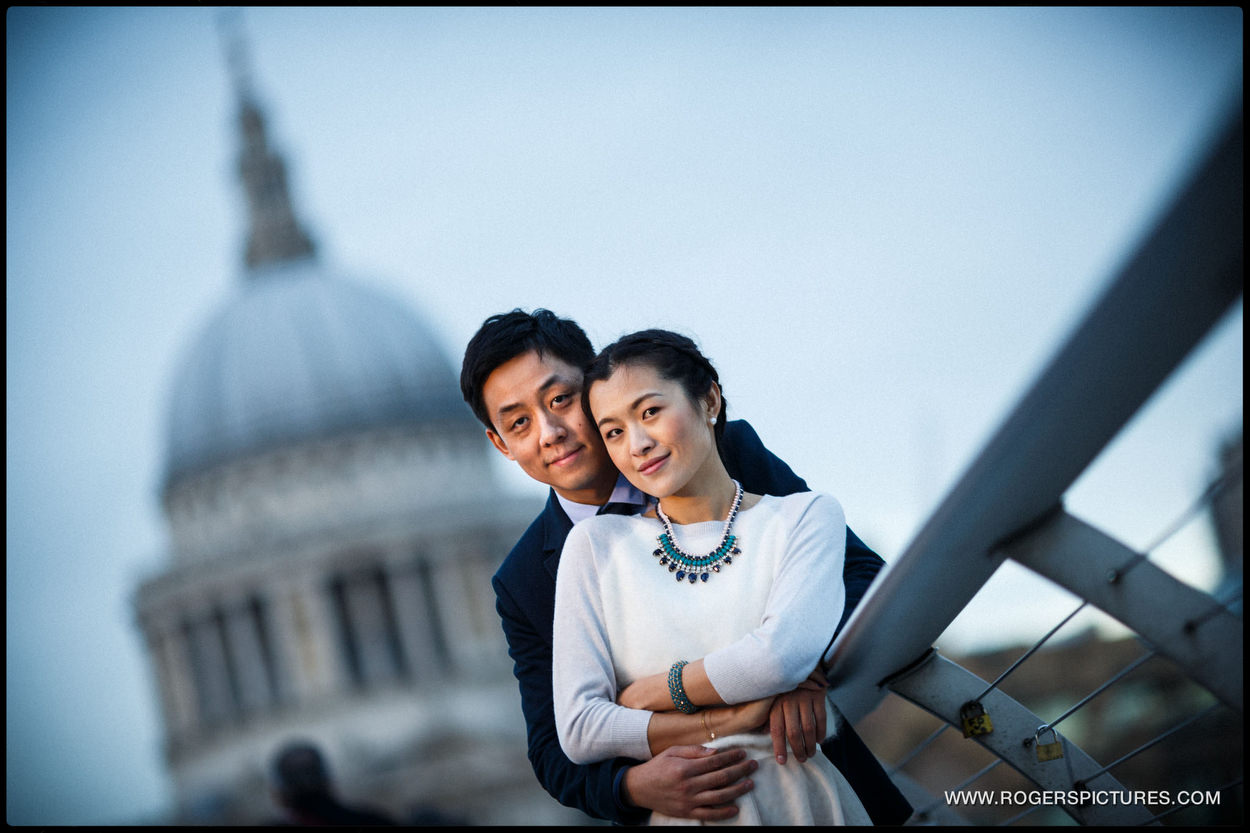 London Engagement Photography near St Paul's Cathedral