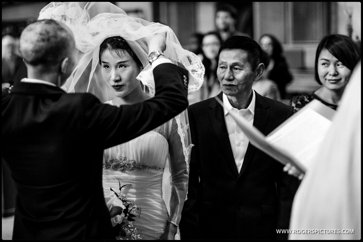 Chinese bride at Temple Church