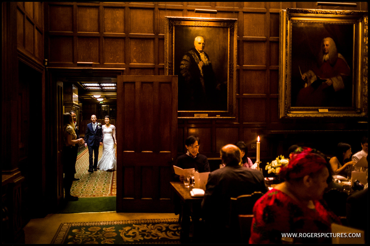 Middle Temple wedding photo