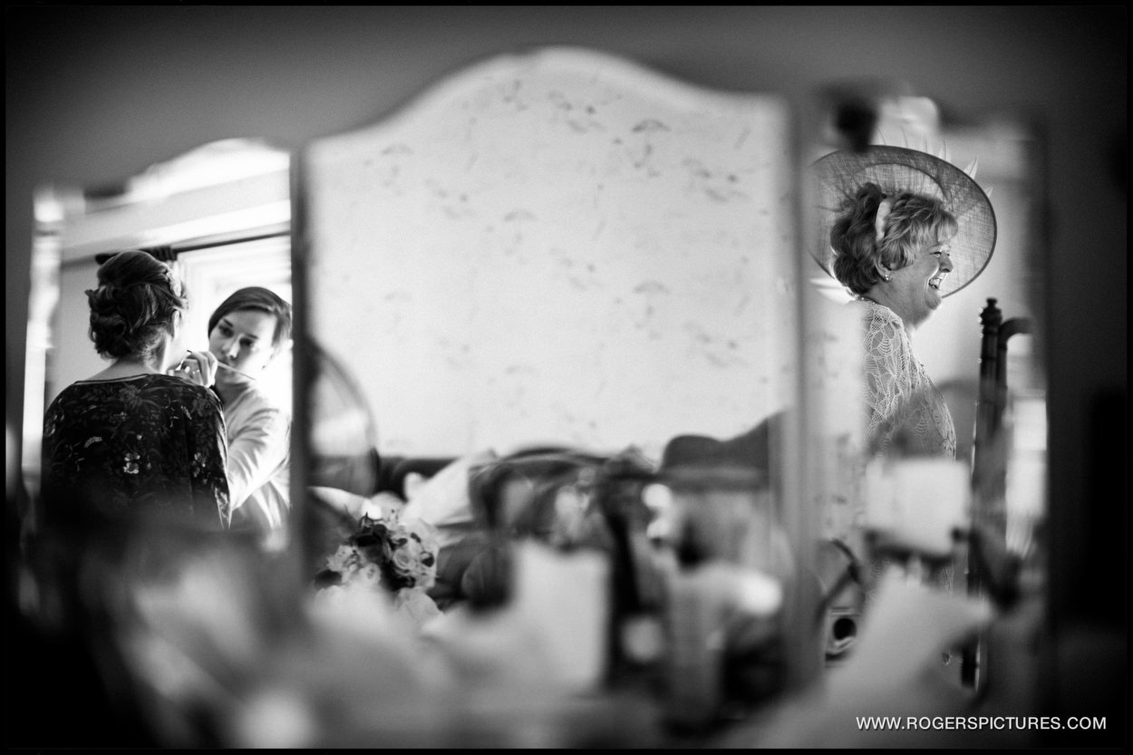 Documentary wedding picture of wedding preparations