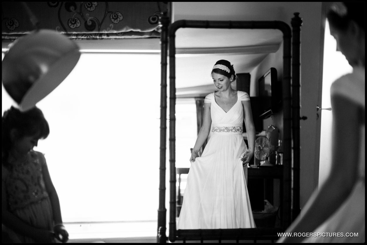 Brides preparations at The George in Rye