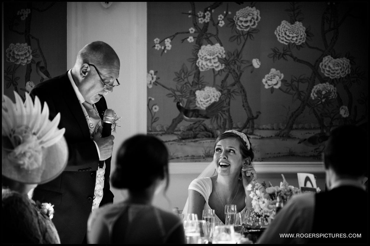 Wedding speeches at The George in Rye