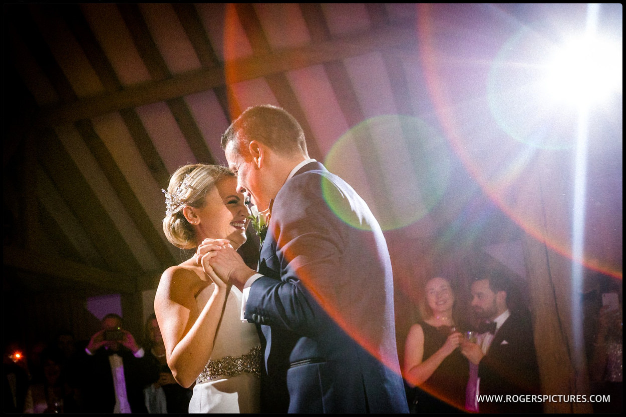 Bride and groom first dance at Cain Manor