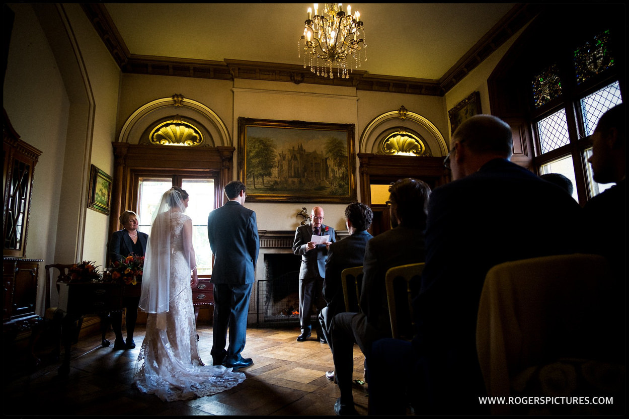 Orchardleigh House Frome wedding ceremony