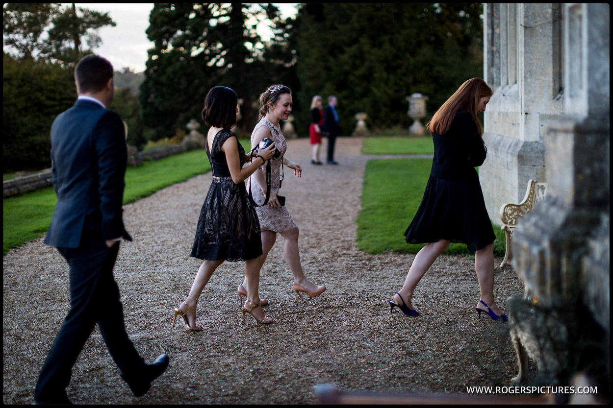 Guests walk into Orchardleigh House