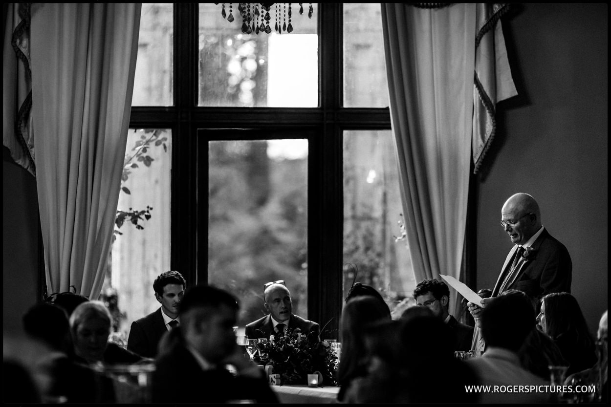 Orchardleigh House father of the bride speech